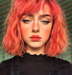 35 Edgy Hair Color Ideas to Try Right Now Looking to give your hair an edge? Then check out these 35 edgy hair color ideas to try and get inspired! SEE DETAILS. Pastel Coral Hair, Blond Pastel, Hair Color Purple, Edgy Hair Colors, Color Red, Neon Hair, Bright Hair Colors, Hairstyles With Bangs, Cool Hairstyles