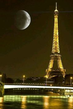 Paris at night is the most romantic!