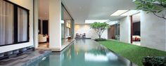 The Luxury Garden House in Jakarta Inside A House, Indoor Swimming Pools, Cool Pools, Awesome Pools, Pool Designs, Interior Architecture, Interior Design, Water Architecture, Jakarta