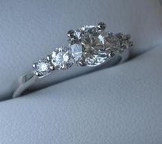 Stunner! GIA certified diamond engagement ring in tiffany style setting.