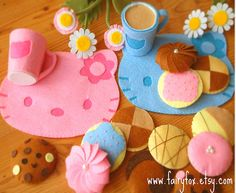 Hello Kitty play kitchen felt placemat. Lots of other ideas on this blog as well.