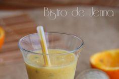 Smoothie fruit de la passion et mangue