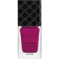 Gucci Orchid Overdose, Bold High-Gloss Lacquer ($27) ❤ liked on Polyvore featuring beauty products, nail care, nail polish, beauty, nails, orchid, glossy nail polish, gucci, gucci nail polish and shiny nail polish