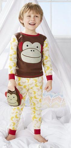 Buy Skip Hop ZOOJAMAS Little Kid Pajamas Monkey Size 2T - 4T Online in Canada   FREE Ship $29+