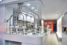 iCream ice cream shop in Wicker Park, Chicago. Custom ice cream colors and flavors made with an industrial mixer and liquid nitrogen! Ice Cream Lab, Ice Cream Parlor, Best Ice Cream, Industrial Mixers, Chocolate Deserts, Chocolate Cream, Ice Shop, Liquid Nitrogen, Ice Cream Brands