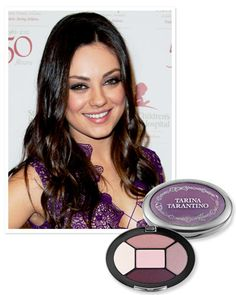 Find Your Perfect Purple Shadow: For green eyes like #Mila Kunis, try an eggplant tone. http://www.instyle.com/instyle/package/general/photos/0,,20574644_20570483,00.html