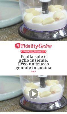 Frulla sale e aglio insieme. Ecco un trucco geniale in cucina