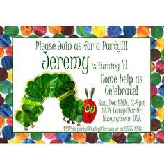 A Very Hungry Caterpillar Birthday Party Invitation - Digital Design
