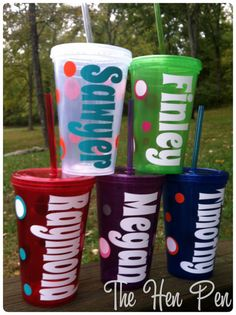 CLEAR Personalized Kids Cups 16oz  tumblers with by TheHenPen, $9.00