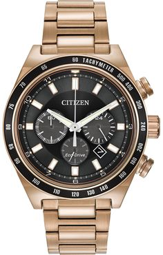 Men s Citizen Eco-Drive™ Sport Chronograph Watch with Black Dial (Model  2179456cbfd