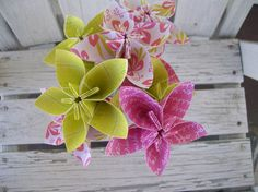 Original Meredith Paper Flowers  Origami  Bouquet by PoshStudios, $30.00