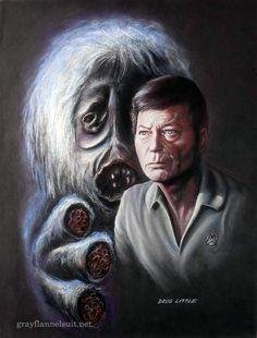 "Star Trek pastel painting - The Man Trap --- this was originally called ""The Salt Vampire"""