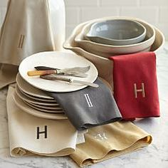 Top Quality Unique Personalized Gifts at Red Envelope via http://www.AmericasMall.com/redenvelope-gifts personalized embroidered kitchen towels #redenvelope #gifts #personalizedgifts