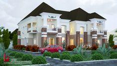 Duplex House Plans, Bungalow House Plans, Modern House Plans, Duplex House Design, Dream Home Design, Simple Porch Designs, Car Porch Design, House Plans Mansion, Building A Porch