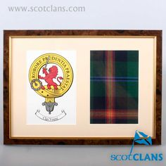 Young Clan Crest and Tartan Print. Free worldwide shipping available.