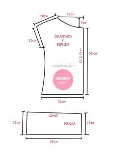 nairamkitty DIY Sewing free pattern  Tutorial para realizar un jersey o camiseta de punto