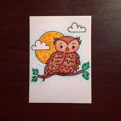 Hoot. Colored. #illustration #doodle #doodling #doodleaday #doodles #drawing #drawingaday #instaart #instaartist #instadoodle #instagramartists #instagramart #art #artstagram #artmarker #micron #artmarkers #owl #owls #owlandmoon #buhos #woodlandanimals #bird #nightowl #jennysuchindesigns #copics #copicmarkers @copicmarker #thedailymarker #childrenillustration