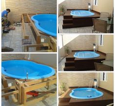. Plunge Pool, Small Backyard Pools, Small Pools, Pool Decks, Backyard Landscaping, Backyard Beach, Above Ground Pool, In Ground Pools, Jacuzzi Outdoor