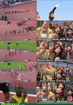 Funny pictures about Every time I see Usain Bolt running. Oh, and cool pics about Every time I see Usain Bolt running. Also, Every time I see Usain Bolt running. Usain Bolt Race, Usain Bolt Memes, Usain Bolt Quotes, Walt Disney, Little Bit, Lol, Humor Grafico, Try Not To Laugh, Tumblr Funny