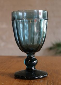 Our favorite Blue Stemmed Glass will liven up your summer table settings! available at southernmercantile.com