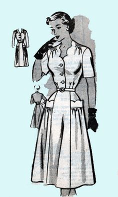 1950s Mail Order Pattern 4698 Rockabilly Dress with by sandritocat, $25.00