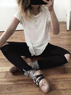 Rock 'n' Roll Style ✯ Miu Miu Ballerinas | audreylombard