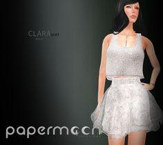 PaperMoon- CLARA Skirt-  White