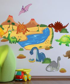 Dinosaur Wall Decal Set from Peel  Play by Mona MELisa Designs on #zulily #madeintheusa