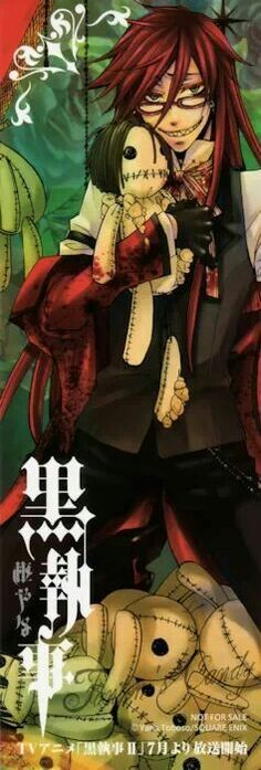 Black Butler - Grell Sutcliff Is it bad that I just realized that the doll he is holding is supposed to be Sebastian??