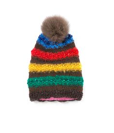 TO CELEBRATE CANADA'S 150TH YEAR in 2017, GŌBLE CREATED THE CANADIANA COLLECTION.   KNIT BEANIE CAP FOR WOMEN IN CANADIANA ROCKIES - SLOUCHY HAT  The GŌBLE women knit beanie cap is a luxurious blend of Wool, Alpaca, Silk and Mohair THIS KNIT BEANIE CAP FEATURES:   Fox Fur Snap-Off Pom Polar Fleece Lining Cozy Construction  One Size HAND KNIT IN CANADA GOBLE.CA