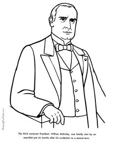 Free Printable President George HW Bush Coloring Pages