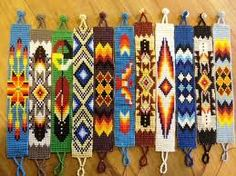Native American Loom Beading Patterns Free Non Indian Beadwork, Native Beadwork, Native American Beadwork, Native American Patterns, Native American Crafts, Beading Patterns Free, Seed Bead Patterns, Bead Loom Bracelets, Beaded Bracelet Patterns