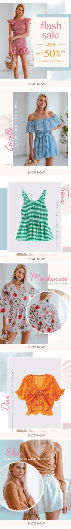 The Goodnight Macaroon Flash Sale starts from 9:00 am Tuesday to 8:59 am Thursday EST. #goodnightmacaroon.co #flashsale #sale #cute #offtheshoulder #polkadot #gingham #summer #summeroutfits #ootd