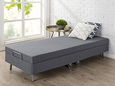 The Zinus memory foam resort folding guest bed is designed for ultimate comfort, style and durability. The 4 inch mattress with 1 inch of memory foam will give your guests a comfortable night's sleep while away from home. Strap and hook included to keep the guest bed securely closed during s... more details available at https://furniture.bestselleroutlets.com/bedroom-furniture/mattresses-box-springs/mattresses/product-review-for-zinus-memory-foam-resort-folding-guest-bed-wi