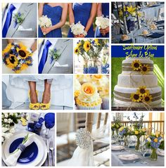 SUNFLOWER YELLOW, SILVER AND BLUE WEDDING inspiration by Rock your Locks! http://www.facebook.com/photo.php?fbid=502494746473803=a.319543871435559.75102.133025596754055=1