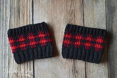 Plaid Boot Cuffs (matches the plaid hat) by Whistle and Ivy