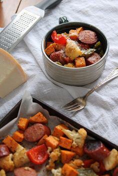Smoked Sausage and Roasted Vegetables: On your table in 30 minutes, this delicious and healthy meal will be your go-to meal for those busy nights.