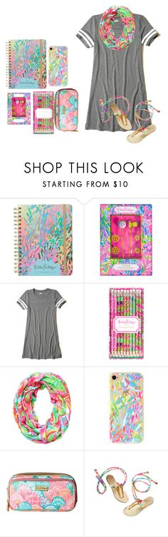 """""""Lilly Pulitzer"""" by a-m-l-d ❤ liked on Polyvore featuring Lilly Pulitzer and Hollister Co."""