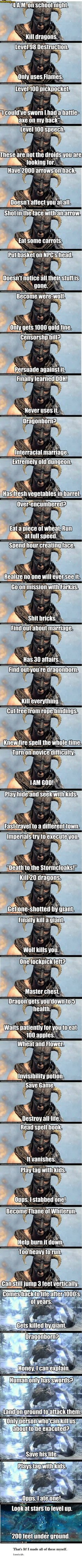 All these Skyrim memes are beautiful #videogameparty #winnipeg