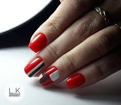 Новые фотографии Manicure, Mani Pedi, Funky Nails, Red Nails, French Nails, Latest Nail Art, Nail Patterns, Fashion Art, Fashion Design