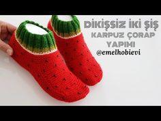Crochet Fruit, Knitting Socks, Knit Socks, Slipper Socks, Boot Cuffs, Crochet Slippers, Diy Clothes, Fitness Inspiration, Christmas Crafts