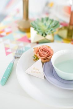 Pastel place setting // photography: anneli marinovich