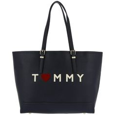 Tommy Hilfiger Handle Bag - Honey EW Tote Love Tommy Tommy Navy - in... (3.230 ARS) ❤ liked on Polyvore featuring bags, handbags, tote bags, blue, print tote bags, tote handbags, navy blue purse, blue purse and handbags totes