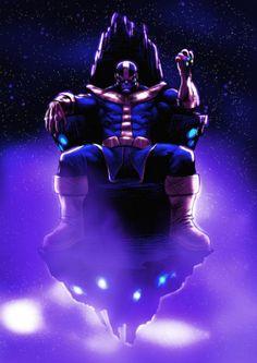 Thanos on His Throne - Alexeuses