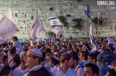 Elad Matityahu's photo captures the joy of Jerusalem Day at the Western Wall, celebrating the miraculous reunification of the Holy City after the Six Day War.