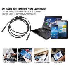 1 메터-5 메터 안드로이드 내시경 7/5 미리메터 6 LED USB 방수 내시경 검사 카메라 720 마력 뱀 튜브 파이프 미니 카메라