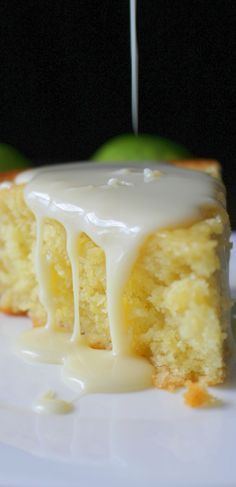 This gorgeous Key Lime and Olive Oil Cake with Key Lime Pie Drizzle is perfectly light, moist, and delicious. Excellent for teatime or brunch!