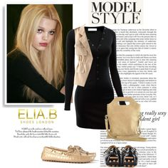 Model Style with Elia.B Shoes London by helenevlacho on Polyvore featuring…