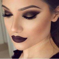 Black smokey eye & black lips