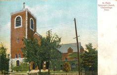 Chattanooga Tennessee~St Pauls Episcopal Church~1908 Postcard